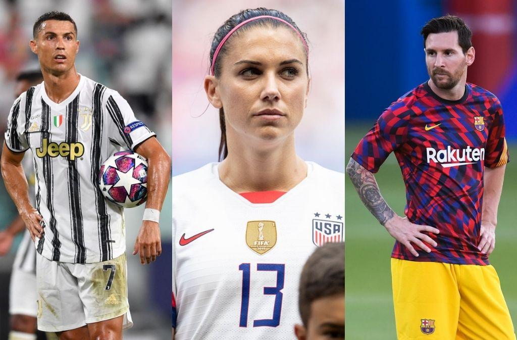 Cristiano Ronaldo, Lionel Messi, Alex Morgan