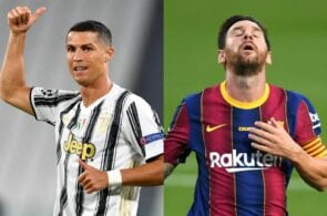Cristiano Ronaldo, Lionel Messi, most admired sportsmen