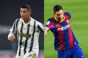 Cristiano Ronaldo of Juventus, Lionel Messi of FC Barcelona