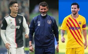 Cristiano Ronaldo, Roy Keane, Lionel Messi