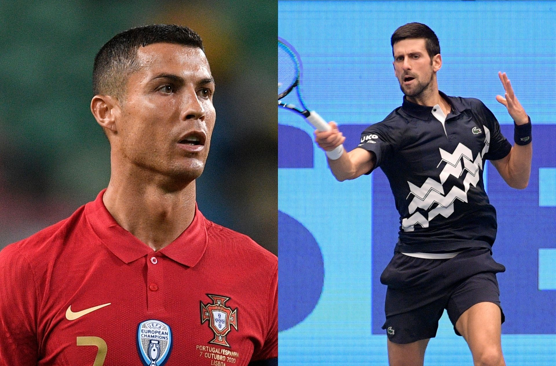 Cristiano Ronaldo of Portugal, Novak Djokovic