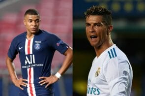 Kylian Mbappe of Paris Saint-Germain, Cristiano Ronaldo of Real Madrid