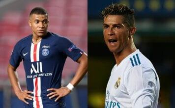 Kylian Mbappe of Paris Saint-Germain, Cristiano Ronaldo of Real Madrid