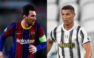 Lionel Messi - FC Barcelona, Cristiano Ronaldo of Juventus