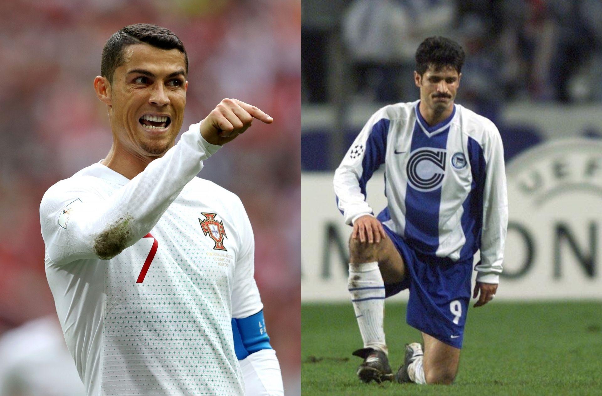 Cristiano Ronaldo of Portugal, Ali Daei of Iran
