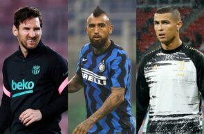 Lionel Messi, Arturo Vidal, Cristiano Ronaldo