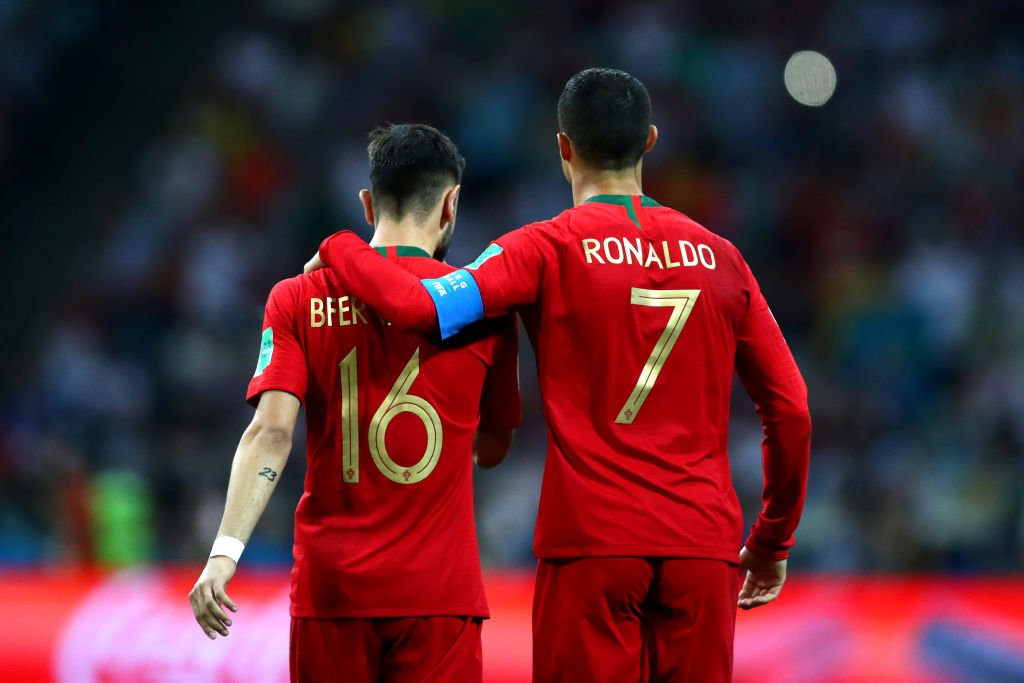 Bruno Fernandes, Cristiano Ronaldo