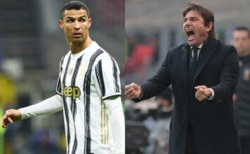 Cristiano Ronaldo of Juventus, Antonio Conte of Inter Milan