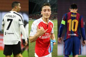 Cristiano Ronaldo, Mesut Ozil, Lionel Messi