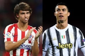 Joao Felix of Atletico Madrid, Cristiano Ronaldo of Juventus