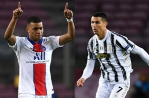 Kylian Mbappe of Paris Saint-Germain, Cristiano Ronaldo of Juventus