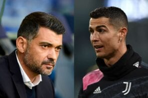 Sergio Conceicao and Cristiano Ronaldo,