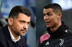 Sergio Conceicao and Cristiano Ronaldo,
