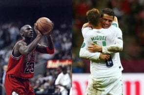 Michael Jordan, Miguel Veloso, Cristiano Ronaldo