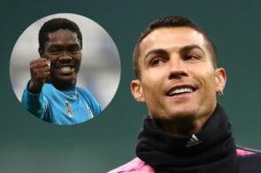 Emmanuel Gyasi of Spezia, Cristiano Ronaldo of Juventus