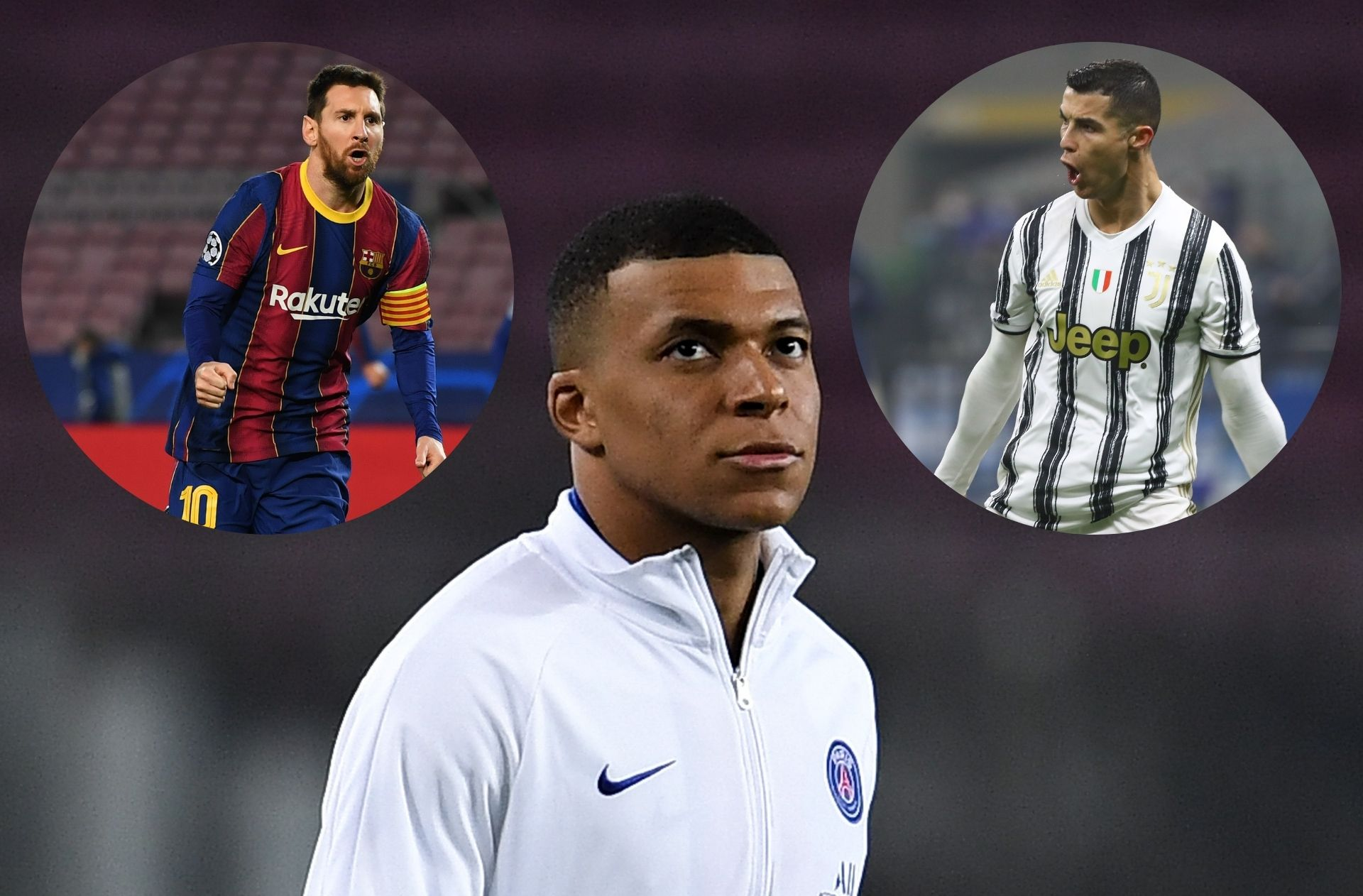 Ronaldo, Mbappe, Messi