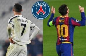 Cristiano Ronaldo, Lionel Messi, PSG