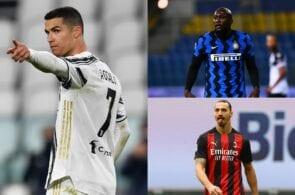 Cristiano Ronaldo, Romelu Lukaku, Zlatan Ibrahimovic, Serie A