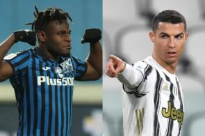 Zapata of Atalanta, Ronaldo of Juventus