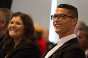 Cristiano Ronaldo with mother Dolores Ronaldo