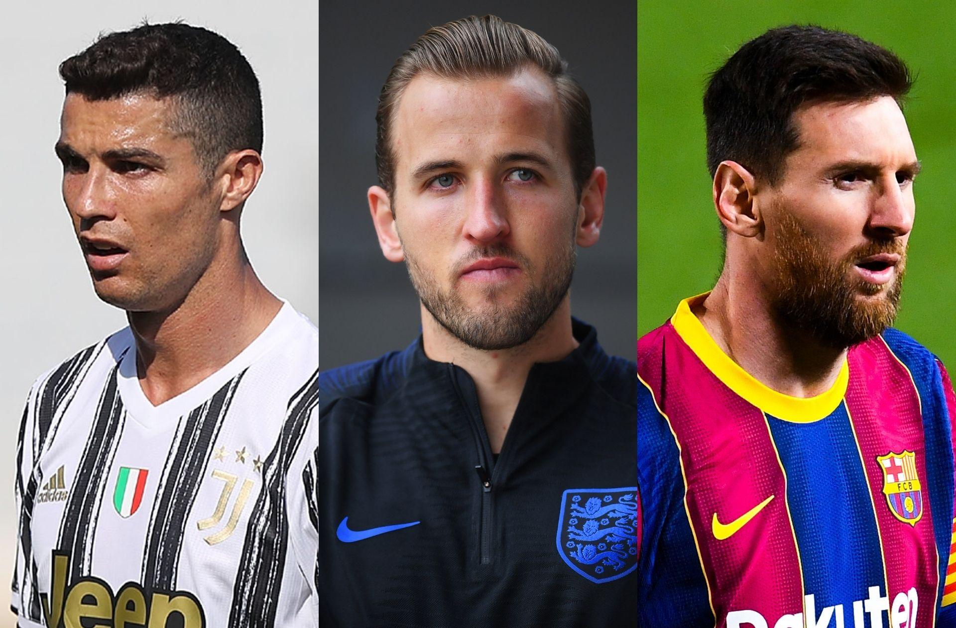 Cristiano Ronaldo, Harry Kane, Lionel Messi