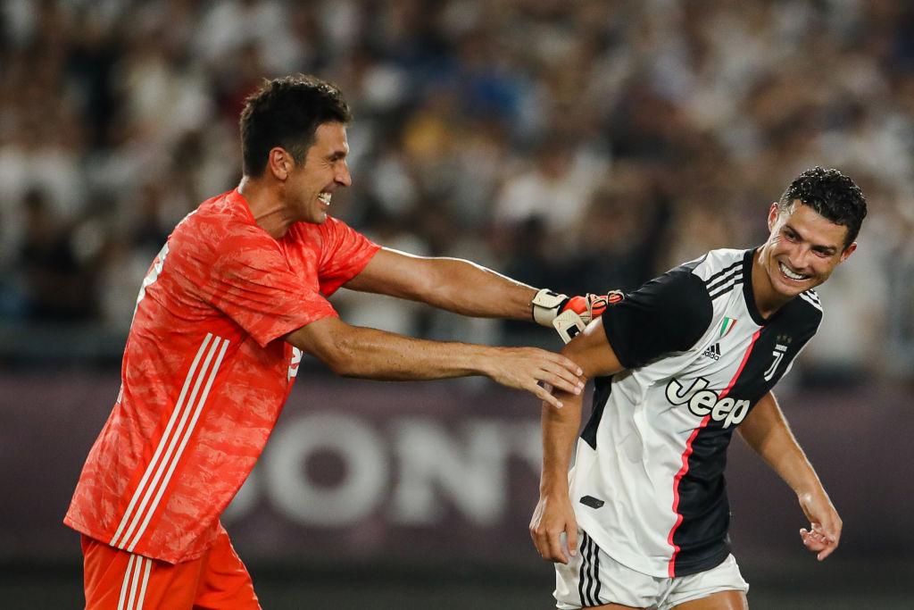 Gianluigi Buffon, Cristiano Ronaldo, Juventus