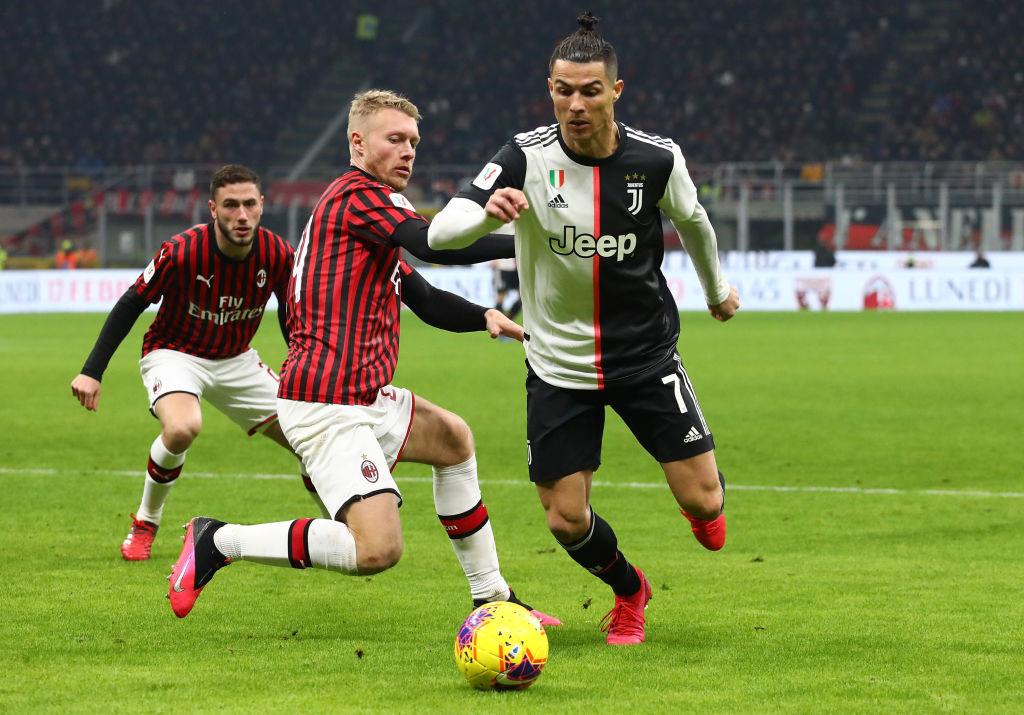 Simon Kjaer, Cristiano Ronaldo, AC Milan