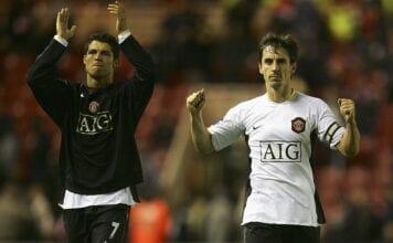 Gary Neville, Cristiano Ronaldo, Manchester United