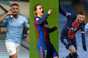 Gabriel Jesus - Man City, Antoine Griezmann - Barcelona, Mauro Icardi - PSG
