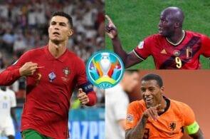 Cristiano Ronaldo - Portugal,, Romelu Lukaku - Belgium, Georginio Wijnaldum - Netherlands