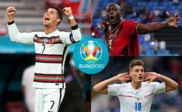 Romelu Lukaku - Belgium, Cristiano Ronaldo - Portugal, Patrik Schick - Czech Republic