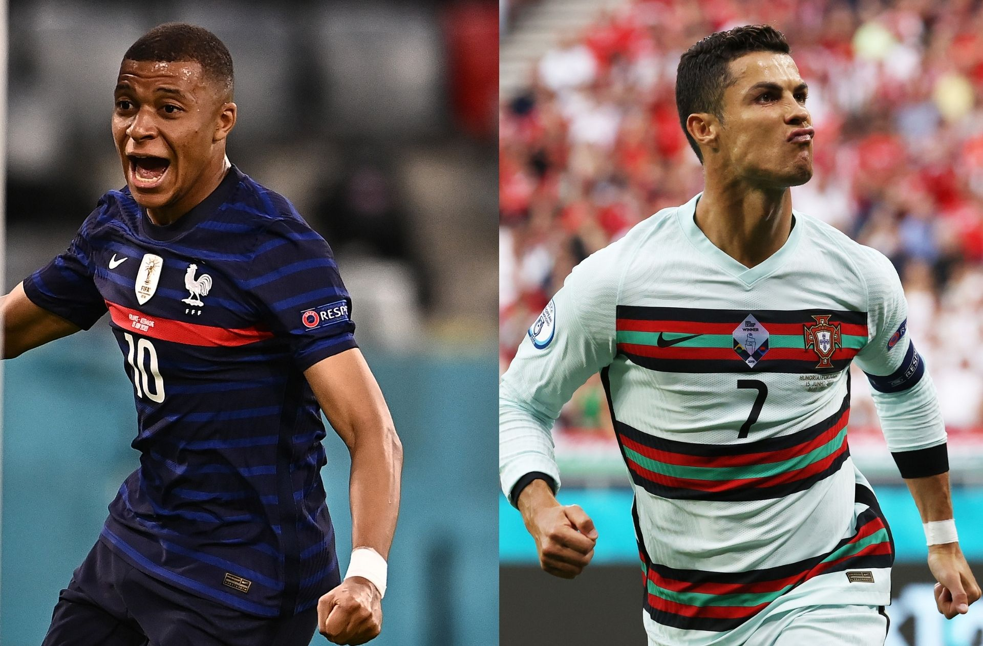 Kylian Mbappe - France, Cristiano Ronaldo - Portugal