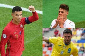Cristiano Ronaldo - Portugal, Patrik Schick - Czech Republic, Roman Yaremchuk - Ukraine