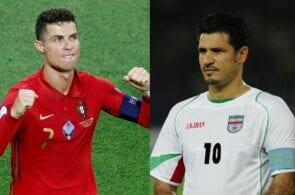 Cristiano Ronaldo - Portugal, Ali Daei - Iran
