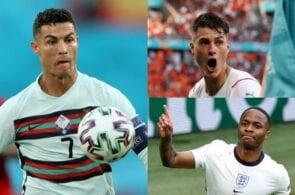 Cristiano Ronaldo - Portugal, Patrik Schick - Czech Republic, Raheem Sterling - England
