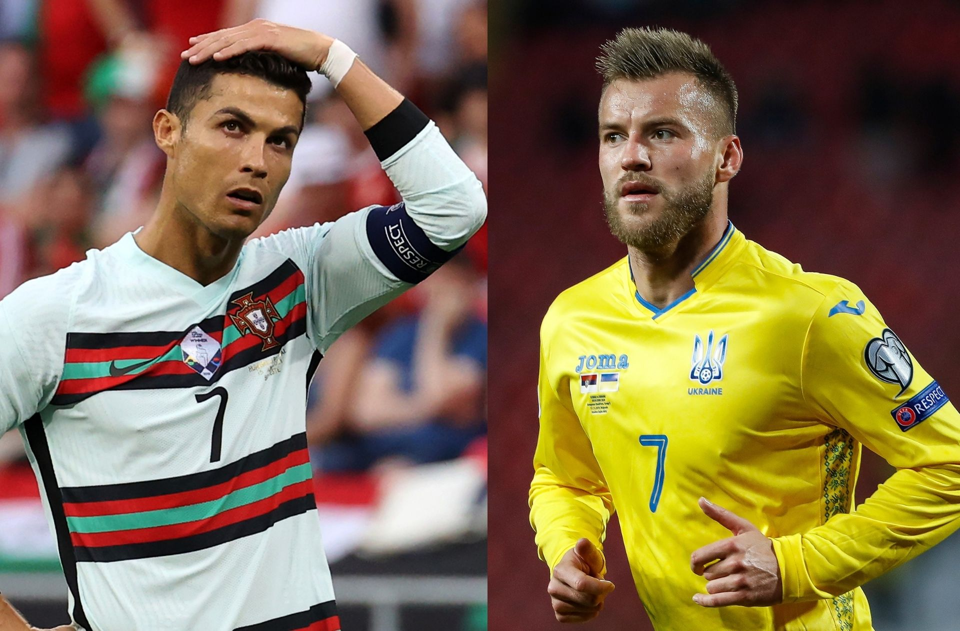 Cristiano Ronaldo, Andriy Yarmolenko