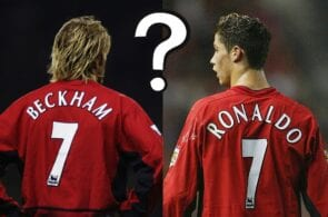 David Beckham, Cristiano Ronaldo, Manchester United
