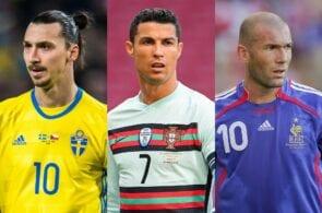 Zlatan Ibrahimovic, Cristiano Ronaldo, Zinedine Zidane