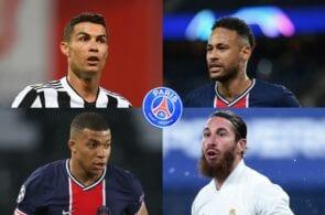 Cristiano Ronaldo, Neymar Jr, Kylian Mbappe, Sergio Ramos