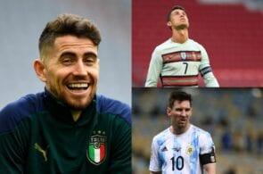Jorginho, Cristiano Ronaldo, Lionel Messi