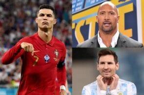 Cristiano Ronaldo, Dwayne Johnson, Lionel Messi