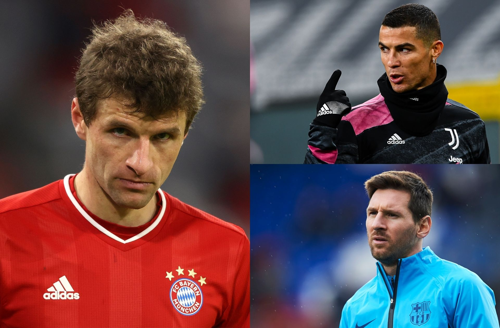 Thomas Muller, Cristiano Ronaldo, Lionel Messi
