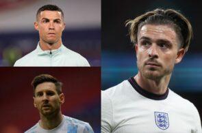 Cristiano Ronaldo, Lionel Messi, Jack Grealish