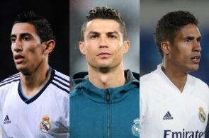 Angel Di Maria, Cristiano Ronaldo, Raphael Varane, Real Madrid