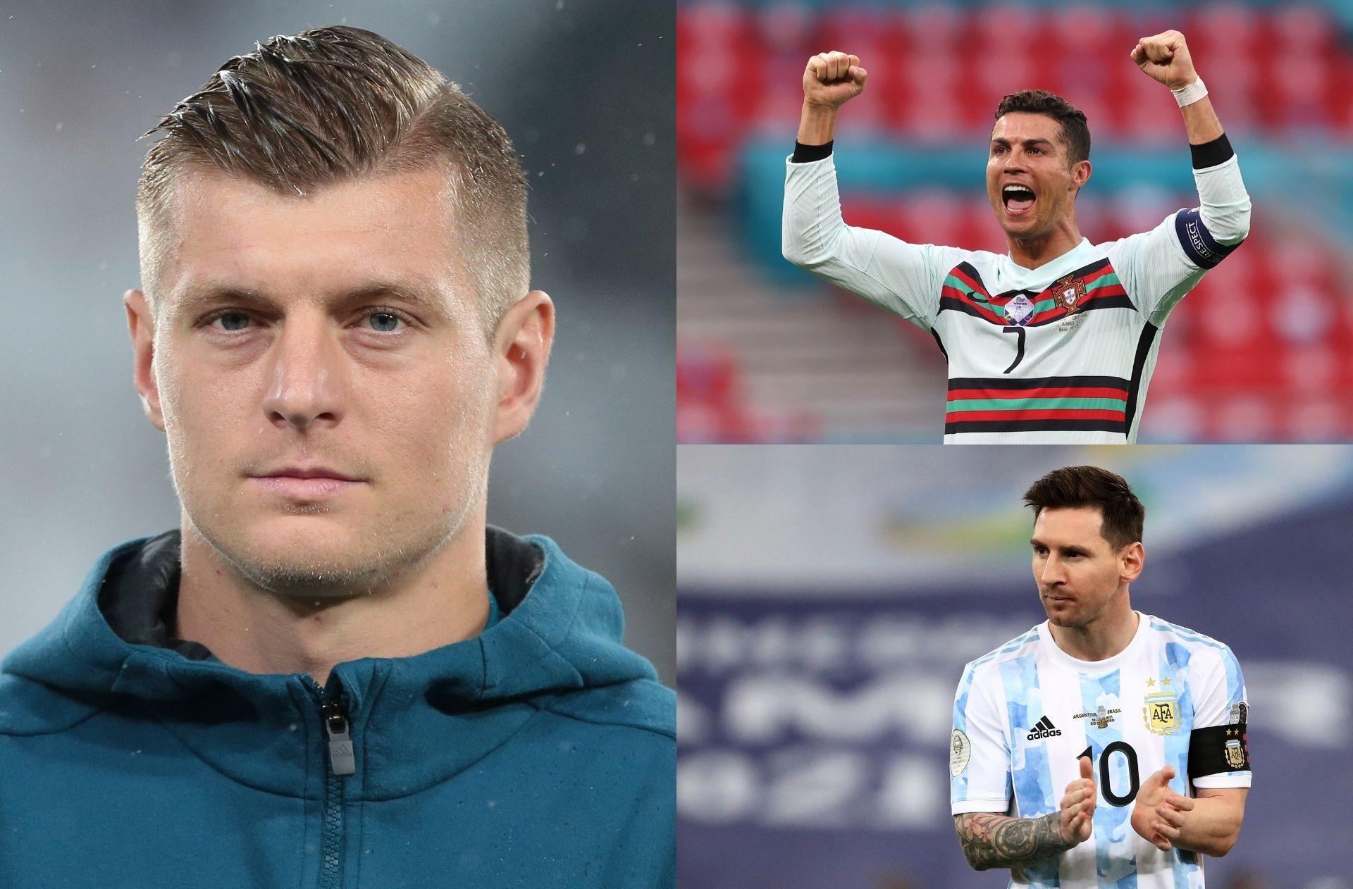 Toni Kroos, Cristiano Ronaldo, Lionel Messi